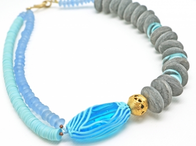 Topographies, blu turchese necklace
