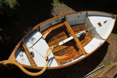 Boat after one week varnishing