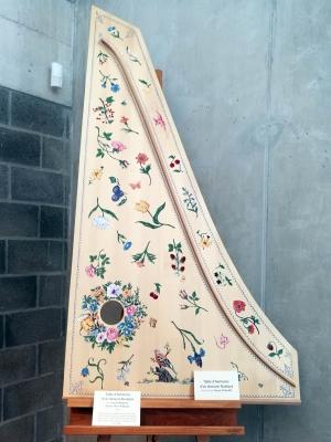 Table d'harmonie d'un clavecin ruckers J.Magnette