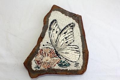 Dario Sogmaister - Fiore con farfalla