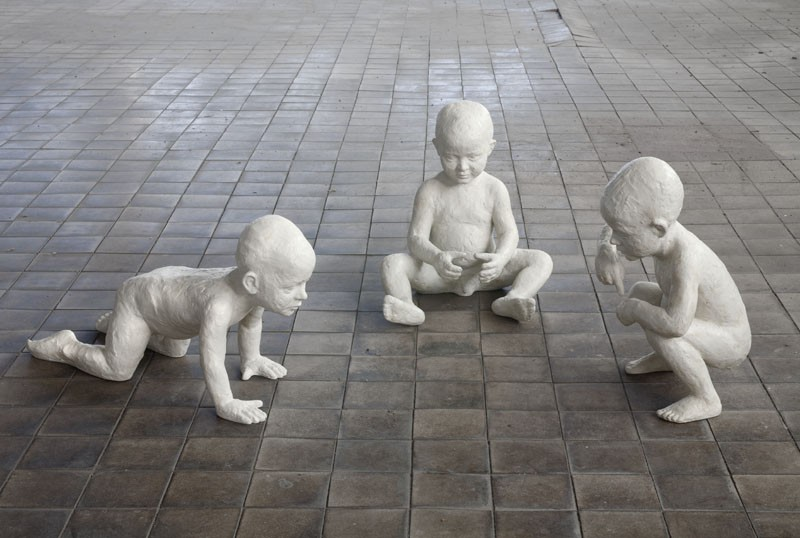 Boys - Zdeněk Manina, ceramist and sculptor since 1980. Czech Republic