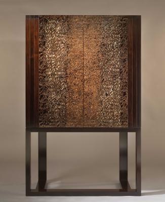 african blackwood and urushi cabinet - Sergej Kirilov
