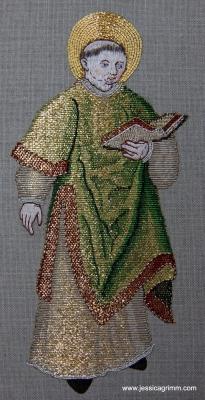 Jessica Grimm - Goldwork st laurence after a medieval orphrey