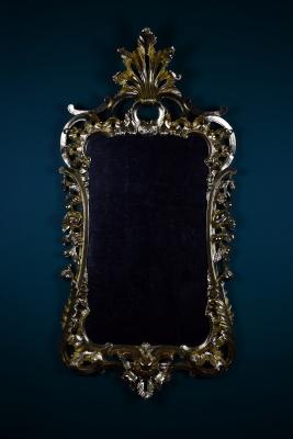 Rococo gilded wood carved mirror by anastasya martynova 1500
