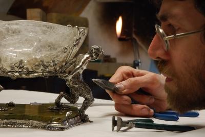 La coppa di bacco in lavorazione -Tommaso Pestelli