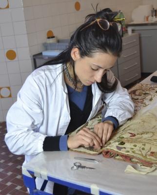 Elisa zonta restauro paramento sacro