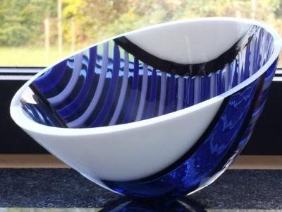 Schaaltje blauw wit zwart1