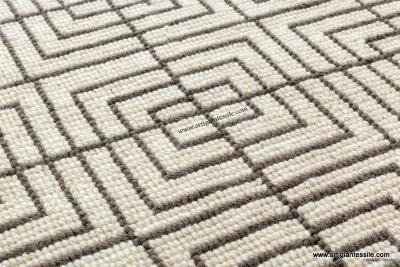 Tappeto sardo in lana quadri irregolari - Artigiantessile di Spiga Davide