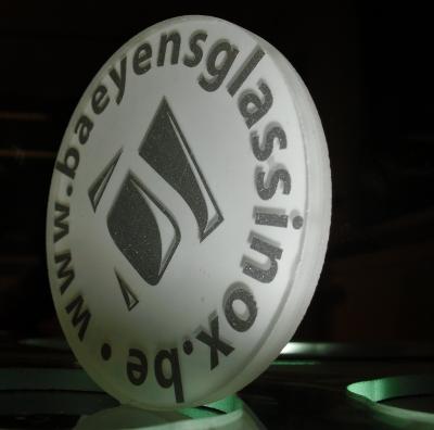 Verre diffuseur feuillte resine - Etienne Baeyens