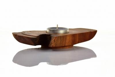 Pear wood candlestick - Ryszard Donitza