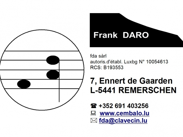 Cartedevisite fda - fda S.à r.l. - Frank Daro