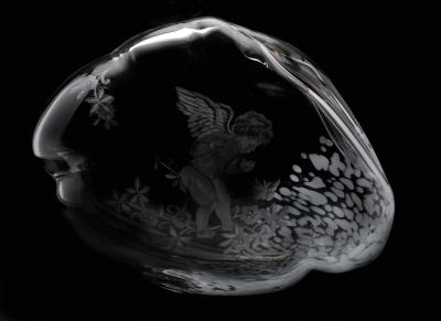 Art nuvola in cristallo cavo 35x30 cm prova d autore