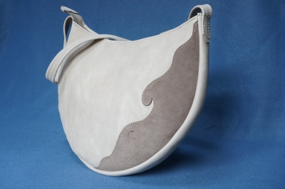Les cuirs de lune sac arabesque beige chataigne