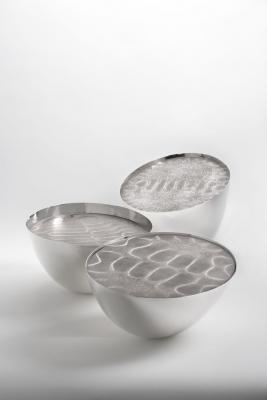 Three chladni bowls, Barbara Amstutz