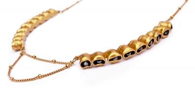 Amaryn necklace with onyx