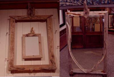 Produzione di cornici e specchi in legno restituito dal mare - AREA snc