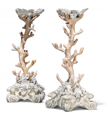 Simulated coral candlesticks - Julian Stanley