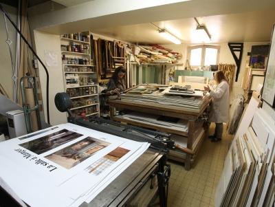 Hinda et Corrine Zerbib - La Maison du Cadre Atelier sur place