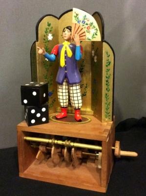 Magician taking his head away
