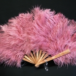 Eventail en plumes d autruche - Martine HACQUART