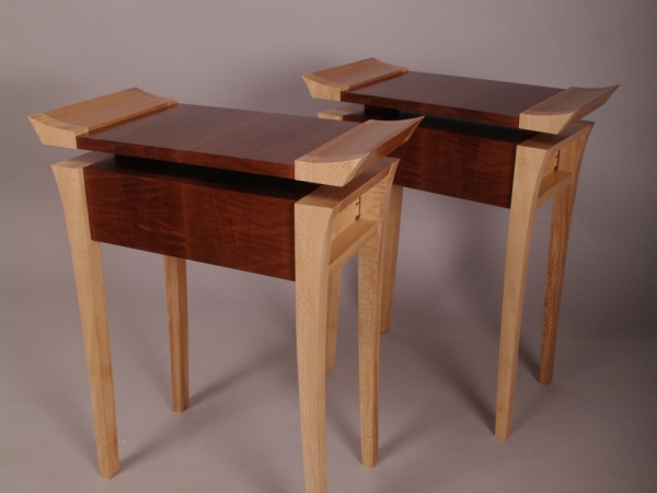 John lloyd pair of side tables
