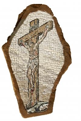 Dario sogmaister cristo crocefisso nel sasso