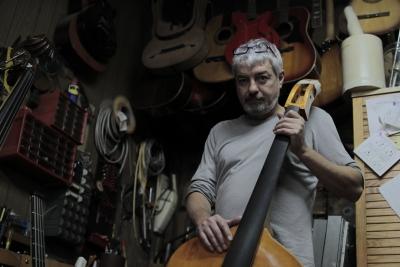 Luca stanzani in his laboratory