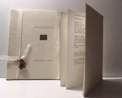 Elizabeth Jardine Godwin - Quince press handmade book pwllpeiran poetry collection