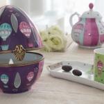 Atelier porcelaine boite oeuf et tasse montgolfiere
