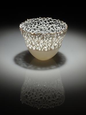 Antonella cimatti lace teabowl 1 front view