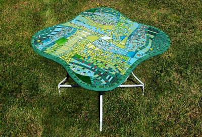 Table mosaique primavera