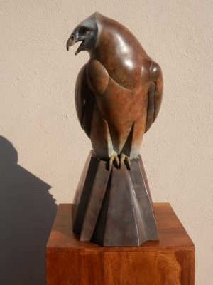 Ama Menec bronze sculpture - front view