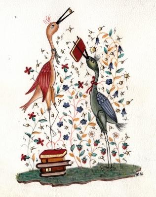 Annie Bouyer - Oiseaux lire 0003