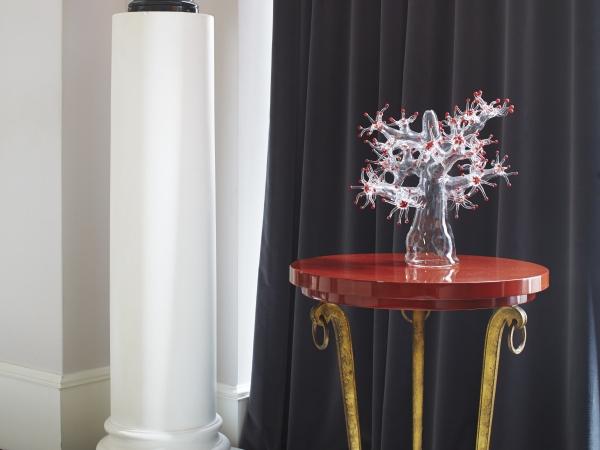Simone crestani 2014 glass coral vetro borosilicato a lume 40x 35x 35 cm ph francis amiand