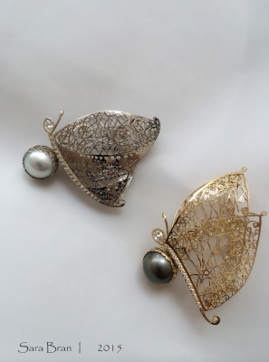Sara Bran - Pendentifs papillons