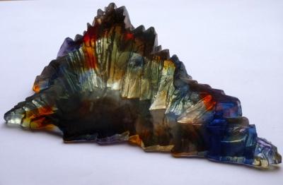 Crispian Heath - Island crh 196 cast glass 9 x 30 x 22 cm