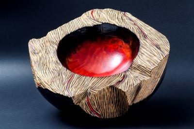 Vaso scultura sequoia caldera vulcano ruggeropallaoro