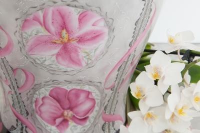 Atelier porcelaine orchidee sur porcelaine