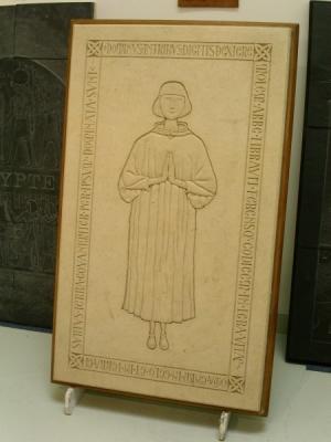 COCHERY - Pièce de concours MOF en Gravure sur Pierre  GISANT de  120 x 60 cm