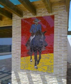 Cavalier andalou en mosaique - Nina Quaglio