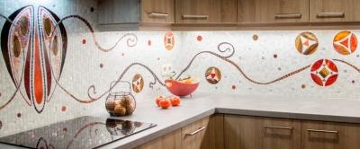 Duperron, création murale, cuisine inspiration art nouveau