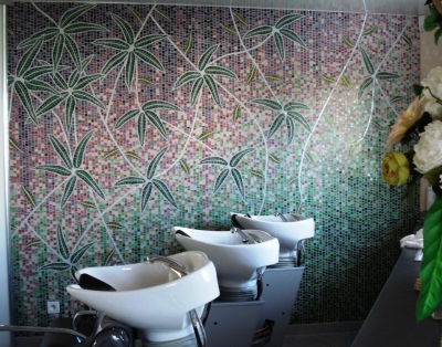 Duperron, création murale, salon de coiffure