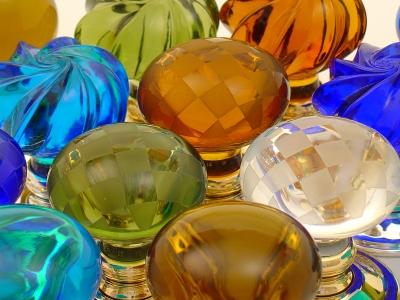 Handmade glass door knobs