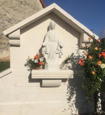 Vierge - Olivier Scieur - Sculpture et taille de pierre