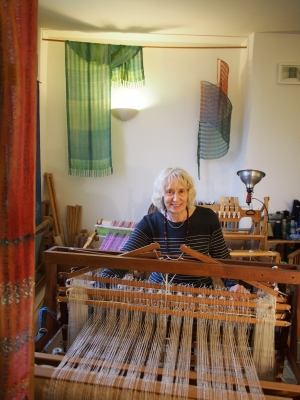 June weaving in studio