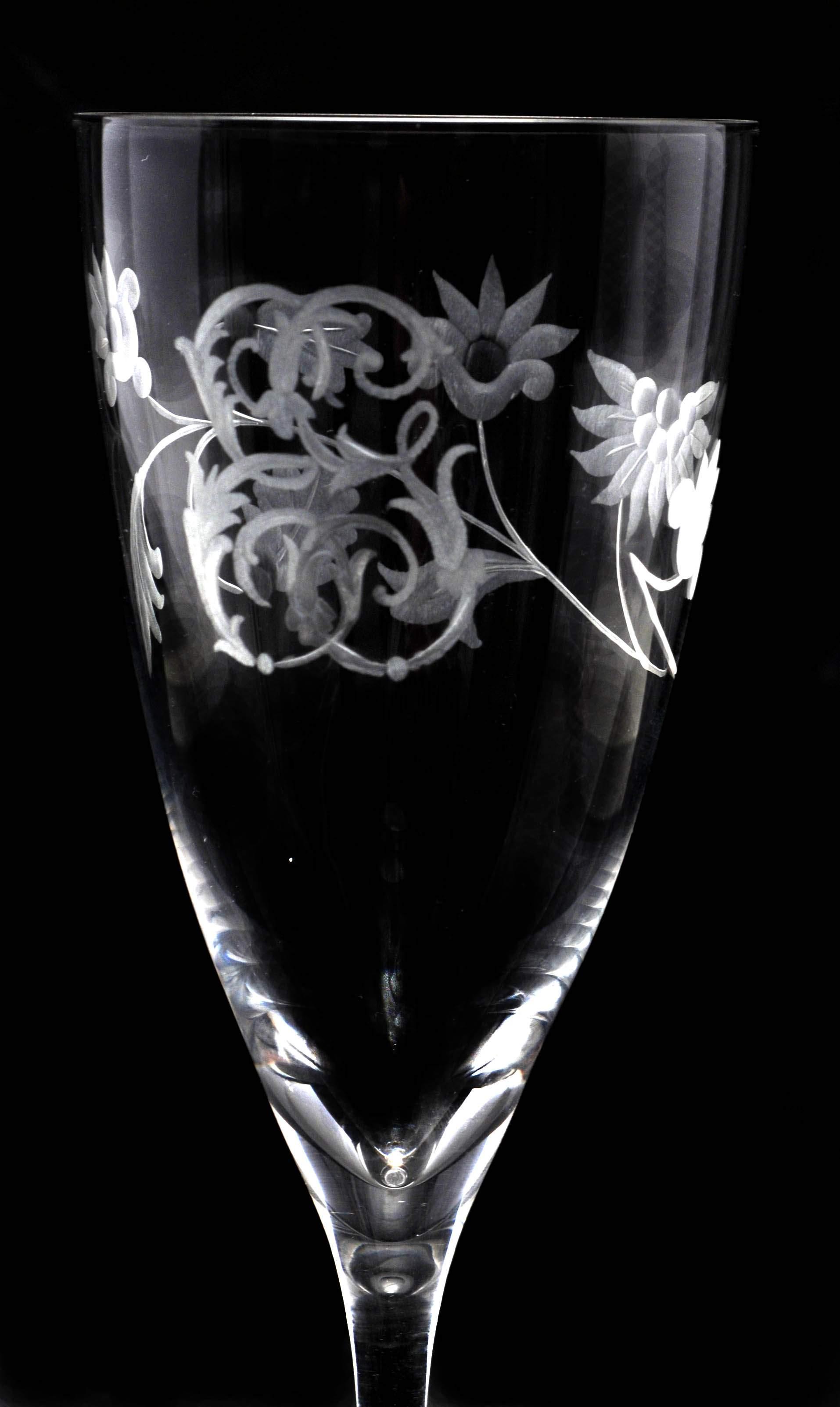Calice anita acqua monogramma luis xv e decoro