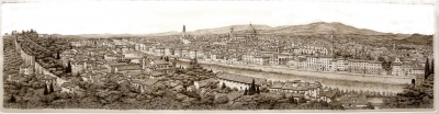 Vincenzo Volpi - Florence view Engraving