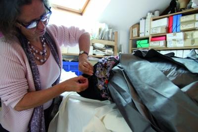 Myriam berry hoornaert dans l atelier