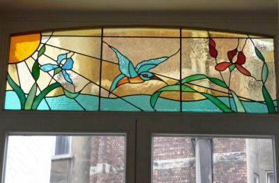 Imposte style art nouveau  - Magali Jongen Atelier Versicolore