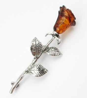 Rose silver amber from Amber Studio - Michal Blawat
